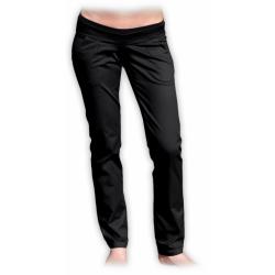 Denimové těhotenské kalhoty DENISA - Černá