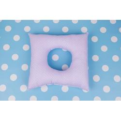 Poporodní polštář - Fialový puntík