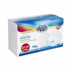 Absorpční vložky (tampóny) do podprsenky Standard 50 + 10 ks ZDARMA Campol Babies