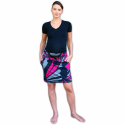 Těhotenská sukně s kapsami Simona - potisk 4
