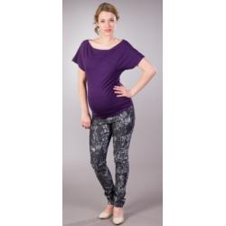Těhotenské kalhoty/Jeans LERE - Černá