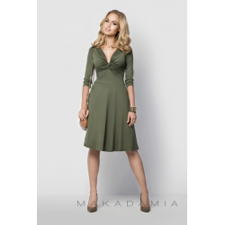 Midi šaty Makadamia 015 - Khaki