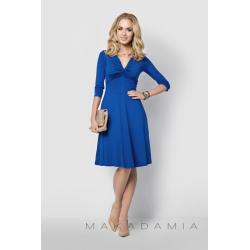 Midi šaty Makadamia 015 - Modrá