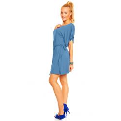 Těhotenské šaty/kimono ATÉNA - Modrá Jeans