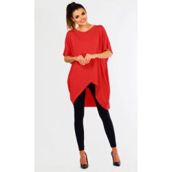 Těhotenská a dámská tunika LORI, krátký rukáv - Červená