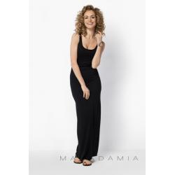 Dámské a těhotenské dlouhé šaty BeYou 018 na ramínka - Černá