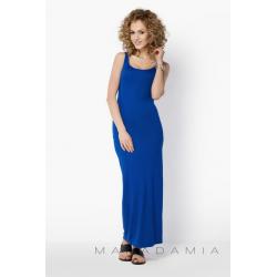 Dámské a těhotenské dlouhé šaty BeYou 018 na ramínka - Modrá