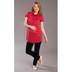 Těhotenská halenka/tunika BIMO - Červená