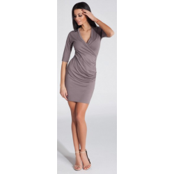 Dámské šaty Fobya F285 - Cappuccino