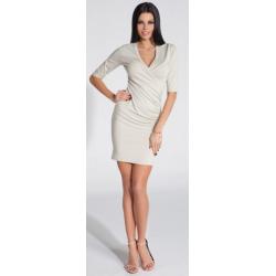 Dámské šaty Fobya F285 - Béžová