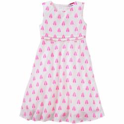 Krémové dívčí šaty s růžičkami a se spodničkou