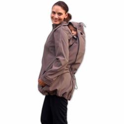 Softshellová bunda SANDRA pro těhotné a pro dva (nošení vpředu/vzadu) - Béžová
