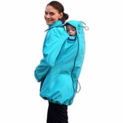 Softshellová bunda SANDRA pro těhotné a pro dva (nošení vpředu/vzadu) - Tyrkys