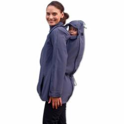 Softshellová bunda SANDRA pro těhotné a pro dva (nošení vpředu/vzadu) - Antracit