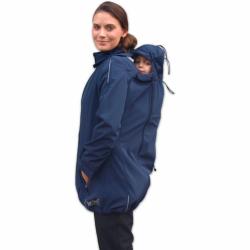 Softshellová bunda SANDRA pro těhotné a pro dva (nošení vpředu/vzadu) - Tmavě modrá