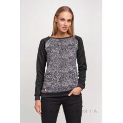 Blůza/mikina Makadamia M238 - vzor šedý panter