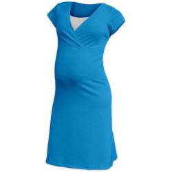 Těhotenská a kojící noční košile EVA, KR - Tmavý tyrkys