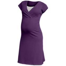 Těhotenská a kojící noční košile EVA, KR - Švestka