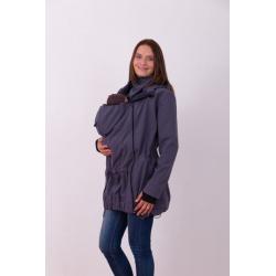 Nosící softshellová bunda PAVLA pro přední nošení dětí - Antracit