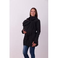 Nosící softshellová bunda PAVLA pro přední nošení dětí - Černá