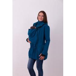 Nosící softshellová bunda PAVLA pro přední nošení dětí - Petrolejová