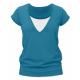 Kojící tričko KARLA, krátký rukáv - Petrolej