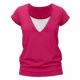 Kojící tričko KARLA, krátký rukáv – Sytě růžová