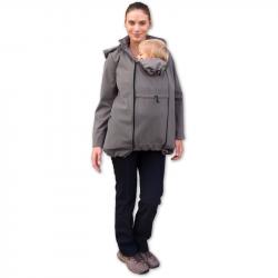Softshellová bunda STELLA 2 pro těhotné a pro dva - Béžová