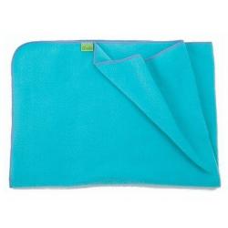 Fleecová deka do kočárku lehká 70x100cm - Tyrkysová