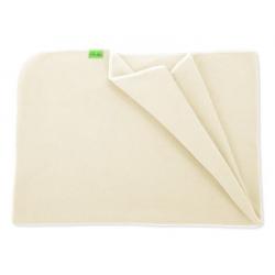 Fleecová deka do kočárku lehká 70x100cm - Krémová