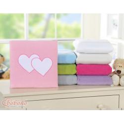 Dětská deka Bobono SRDÍČKA - růžová