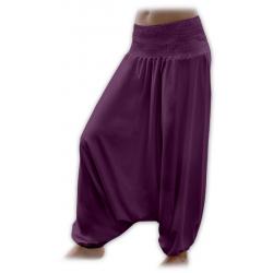 Turecké těhotenské kalhoty JOŽÁNEK - Švestka