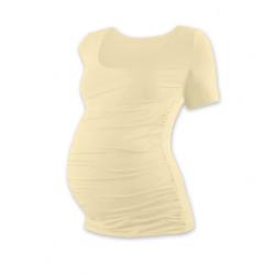 Těhotenské tričko JOHANKA, krátký rukáv - CAFFE LATTE