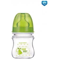 Canpol babies láhev se širokým hrdlem EasyStart FRUITS 120 ml 3m+ - Zelená