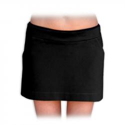 Denim (jeans/barevná riflovina) těhotenská mini sukně MONIKA - černá