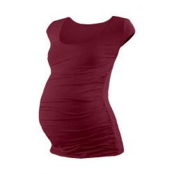 Těhotenské tričko JOHANKA, mini rukáv – BORDO