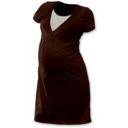Noční košile pro těhotné a kojící matky JOŽÁNEK, KR -ČOKO HNĚDÁ