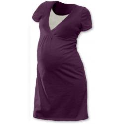Noční košile pro těhotné a kojící matky JOŽÁNEK, KR – ŠVESTKA