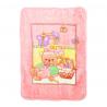Dětská španělská chlupatá deka Baby Mix Medvěd - růžová