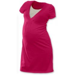 Noční košile pro těhotné a kojící matky JOŽÁNEK, KR - sytě růžová
