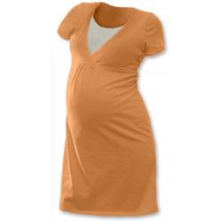 Noční košile pro těhotné a kojící matky JOŽÁNEK, KR - světle oranžová