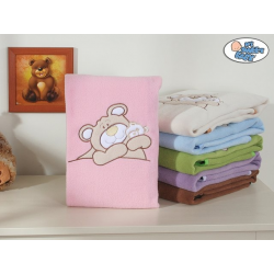 """Dětská deka kolekce """"MÉĎA BARNABÁŠ"""" - růžová"""