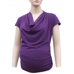 Těhotenská blůzka BAGI – fialová