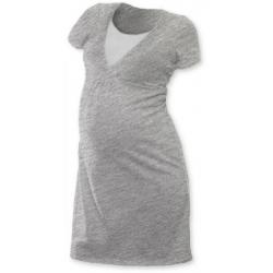 Noční košile pro těhotné a kojící matky JOŽÁNEK, KR - Šedý melír