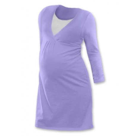 Noční košile pro těhotné a kojící matky dlouhý rukáv - ŠEŘÍKOVÁ