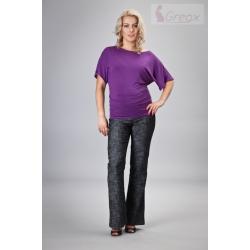 Těhotenské kalhoty DENIM - černý melír
