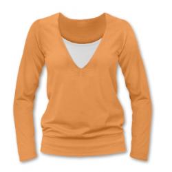 KOJÍCÍ TRIČKO KARLA, dlouhý rukáv - Světle oranžová