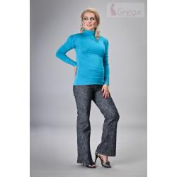 Těhotenské kalhoty DENIM - granátový melír