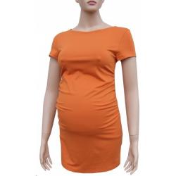 Těhotenská tunika KAZA - Oranžová