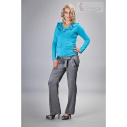 Elegantní těhotenské kalhoty ZENGE - ocelové
